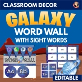 Sight Word and Phonics Word Wall in Galaxy Outer Space Theme