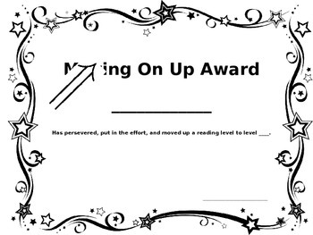 Sight Word and Reading Level Award