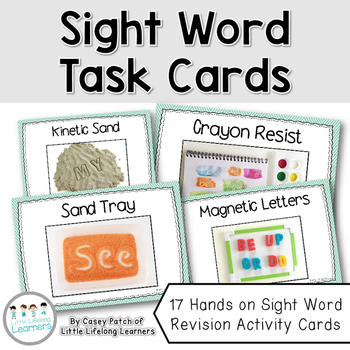 Spelling Activities for any list - Sight Word Task Cards