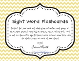 Sight Word and Word Wall Flashcards