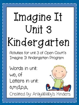 Sight Word and letter Activities- Imagine It Unit 3 Words