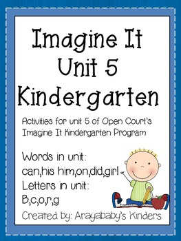 Sight Word and letter Activities- Imagine It Unit 5 Words