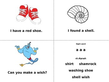 Sight Word book A and I