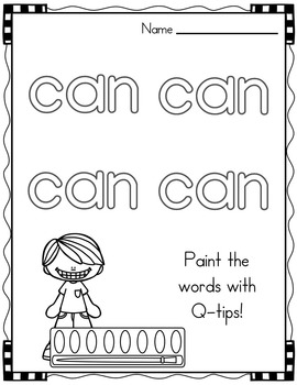 Sight Word of the Week (17 Activities for the word CAN)