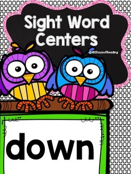 Sight Word {down} Activities