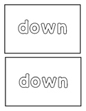 "Sight Word ""down"" Emergent Reader"