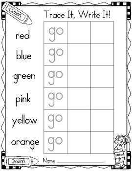 Sight Word of the Week (13 Activities for the word GO)