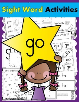 Sight Word GO (13 Activities for the word GO) Sight Word of the Week!