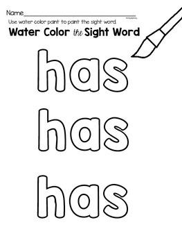Sight Word {has} Activities