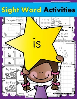 Sight Word of the Week (16 Activities for the word IS)