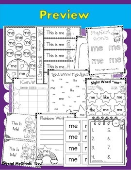 Sight Word of the Week (14 Activities for the word ME)