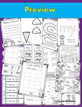 Sight Word of the Week (14 Activities for the word MY)