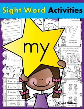 Sight Word MY (14 Activities for the word MY) Sight Word of the Week!