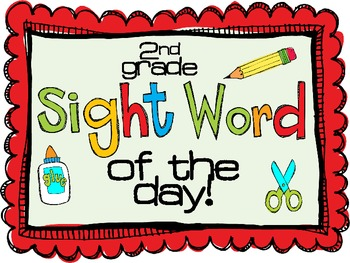 Sight Word of the Day $1 Sample {Second Grade Cup of Tea}