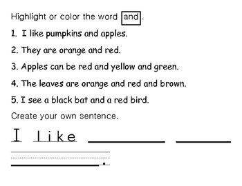 Sight Word of the Day AND