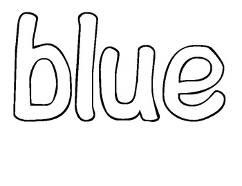 Sight Word of the Day BLUE