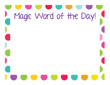 Sight Word of the Day/Blend of the Day