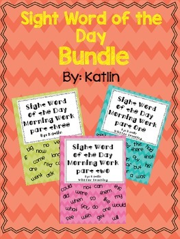 Sight Word of the Day Bundle