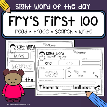 Sight Word of the Day - Fry's Sight Words First 100 Words - NO PREP
