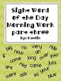Sight Word of the Day Morning Work Watches Part Three