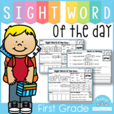 Sight Word of the Day Reading and Writing Fluency (1st Grade)