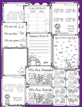 Sight Word ARE (18 Activities for the word ARE) Sight Word of the Week!
