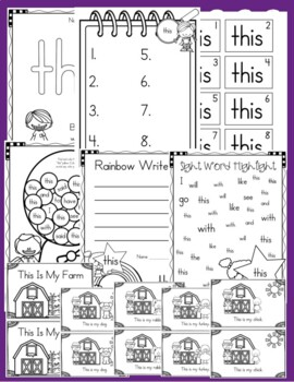 Sight Word of the Week (20 Activities for the word THIS)