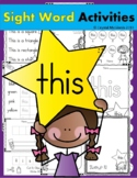 Sight Word THIS (20 Activities for the word THIS) Sight Word of the Week!