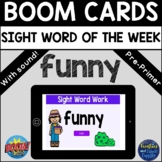 """Sight Word of the Week """"funny"""" - BOOM Cards™ - Distance Learning"""