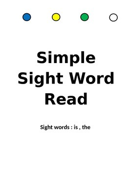 Sight Word read, is,the