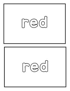 "Sight Word ""red"" Emergent Reader"
