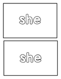 """Sight Word """"she"""" Emergent Reader"""