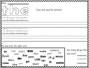 Sight Word- the