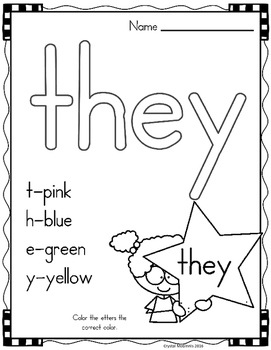 Sight Word of the Week (15 Activities for the word THEY)