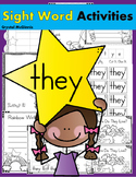 Sight Word THEY (15 Activities for the word THEY) Sight Word of the Week!