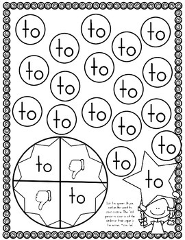 Sight Word of the Week (12 Activities for the word TO)