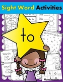 Sight Word TO (12 Activities for the word TO) Sight Word of the Week!