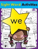 Sight Word WE (12 Activities for the word WE) Sight Word of the Week!
