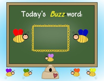 First GradeTricky Rainbow Words/BUZZ Word Password poster