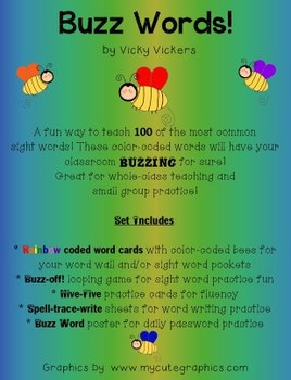 First Grade Tricky Sight Word/Buzz Words Complete Set