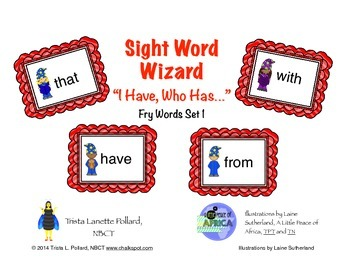 """Sight Word Game: """"I Have, Who Has"""" (Fry List 1)"""