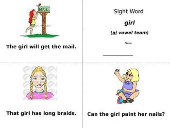 Sight Word/Phonics Sounds books