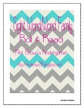 Sight Word/Word Family Roll & Read