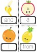 Sight Words 1-100 with a Fruit Theme