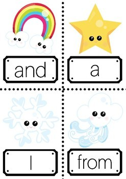 Sight Words 1-100 with a Weather Theme