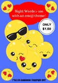 Sight Words 1-100 with an Emoji Theme #2