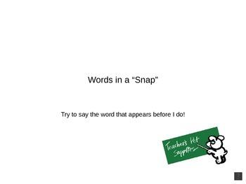 Sight Words 1-25 Virtual Flashcards