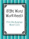 Sight Words 1-4 Worksheets Freebie