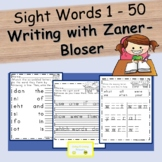 Sight Words (1-50) with Zaner-Bloser Handwriting