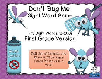 Fry Sight Words: 1-100 (Bugs)